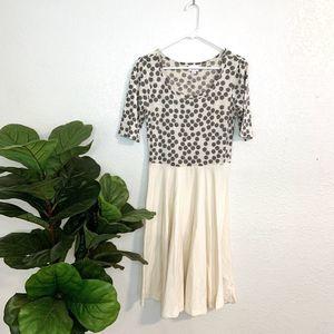 LuLaRoe LLR Nicole cream polka dot dress